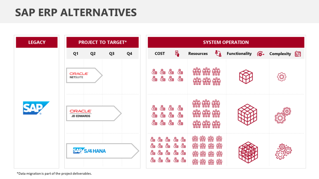 SAP ERP ALTERNATIVES